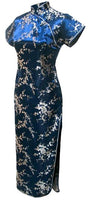 Shanghai Story Womens Long Cheongsam Traditional Chinese Dress Plus Size S---6XL Women's Chinese Style Dress Satin Qipao Dress