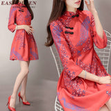 Traditional chinese clothing China New Woman Dresses 2018 Summer Chinese qipao dresses short improved cheongsam qipao AA1971 W