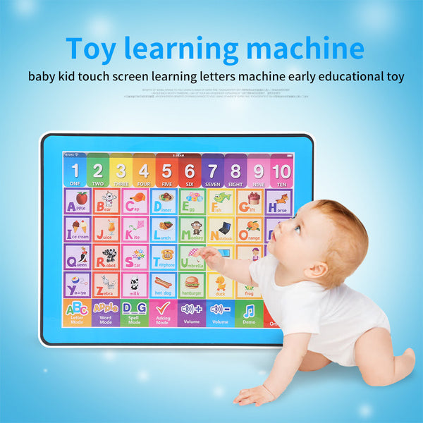Baby Kids Touch Screen Learning English Machine Tablet Early Educational Toy