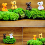 1Pcs Mini Resin Bear Doll Miniatures Terrarium Decor(Random Delivery)