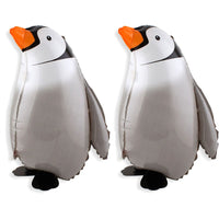 2pcs Penguin Walking Animal Balloons Aluminum Foil Air Walkers Party Supplies Decorations Kids Toy