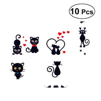 10pcs Cartoon Cute Cat Switch Sticker Switch Decor Decals Family DIY Decor Art Stickers Home Decor Wall Art Decoration