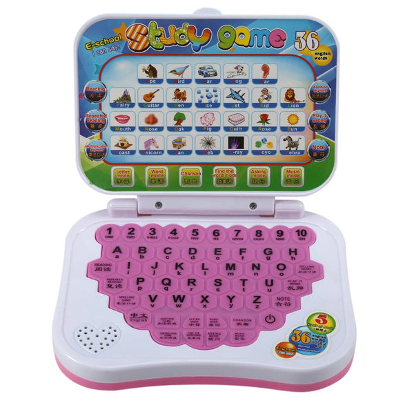 Baby Kids Children Bilingual Educational Learning Study Toy Laptop Computer Game