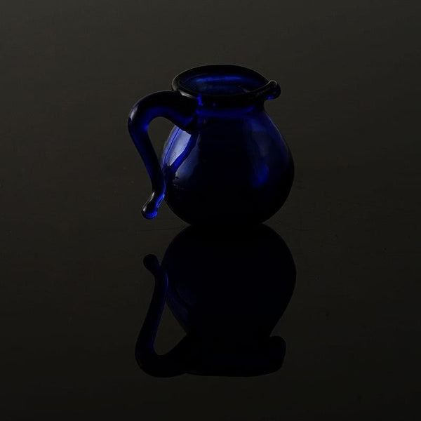 1:12 Scenery Model Doll House Accessories Mini Blue Glass Kettle