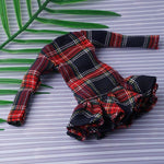 stylish 11 Inch High 30cm Doll Red Plaid Dress Girl Gift