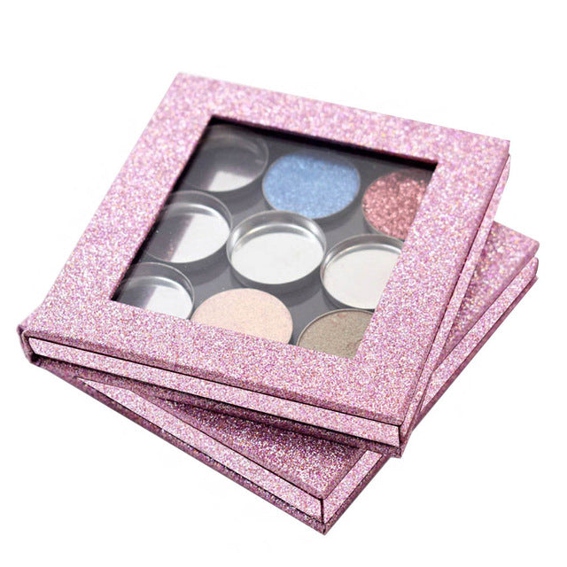Eye Shadow Diy Empty Magnetic Palette Refill Eyeshadow Blush Easy Carry Beauty Pigment Makeup Cosmetic Storage Tools High Quality Colorful