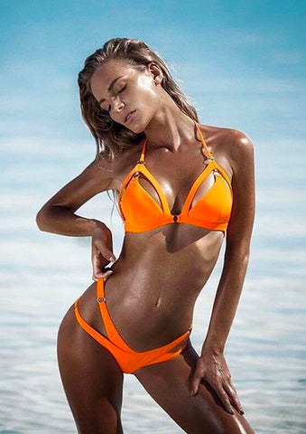 Bikini orange de face