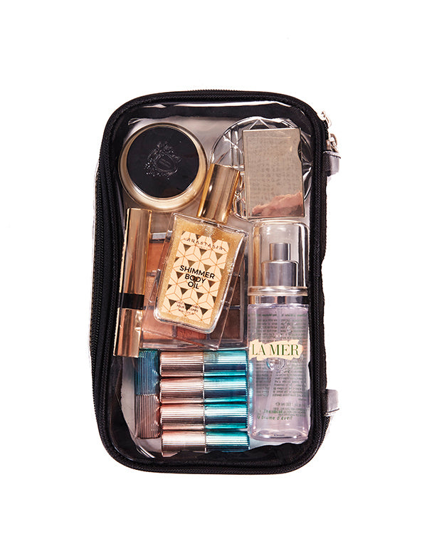 KKR CLEAR CASE with makeup essentials