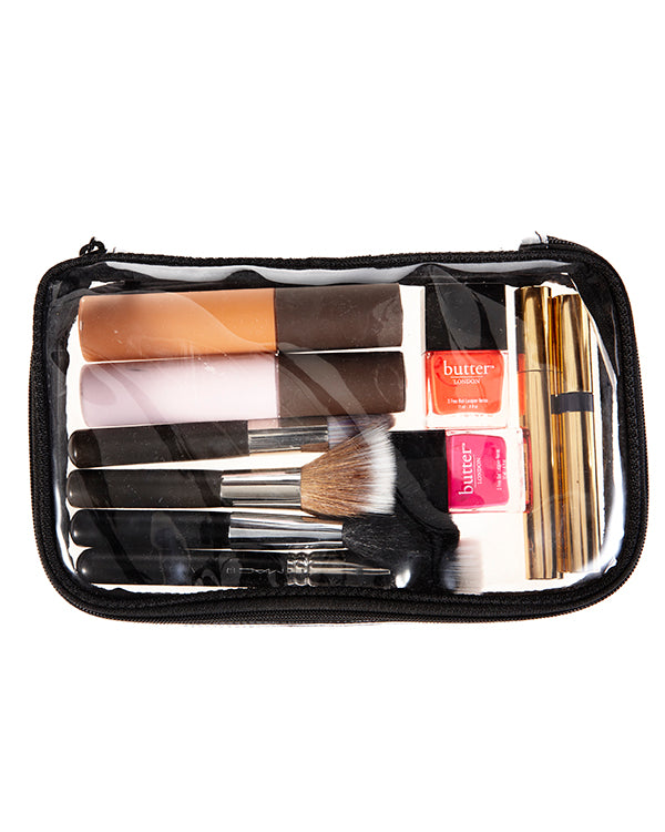 KATKIT Mini Clear Case with makeup essentials