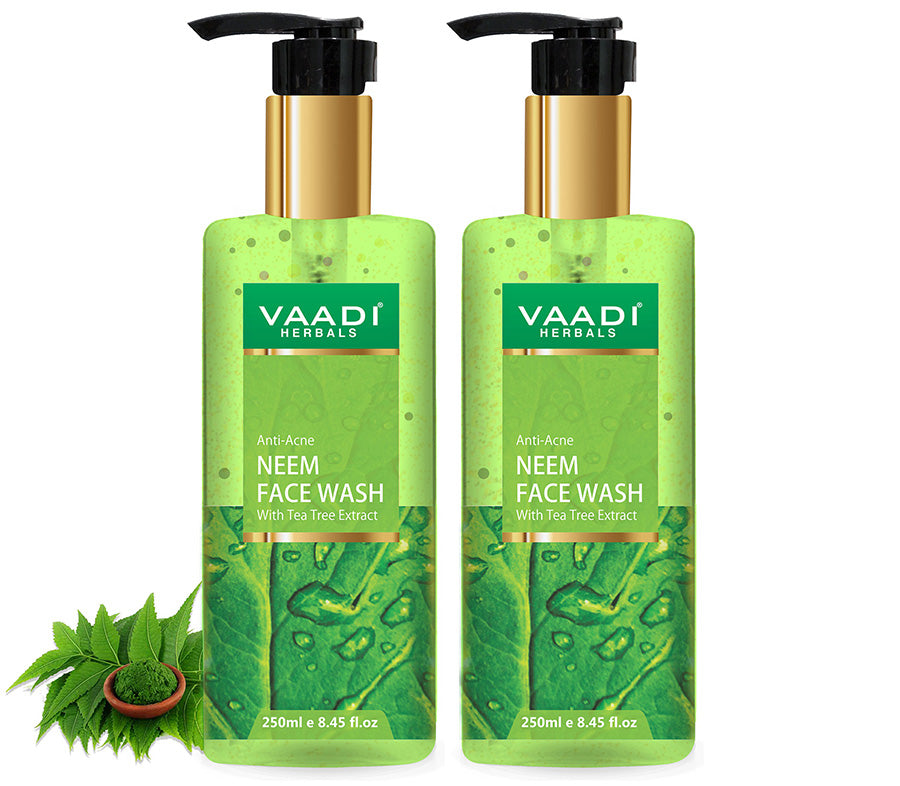 Pack of 2 Anti-Acne Neem Face Wash With Tea Tree Extract (2 x 250 ml)