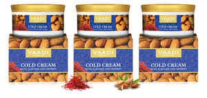 Pack of 3 Cold Cream with Almond Oil, Aloe Vera & Saffron (150 gms x 3)