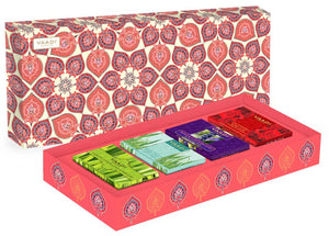 Exotic Fragrance Collection - 4 Premium Herbal Handmade Soap Gift Box (75 gms X 4)