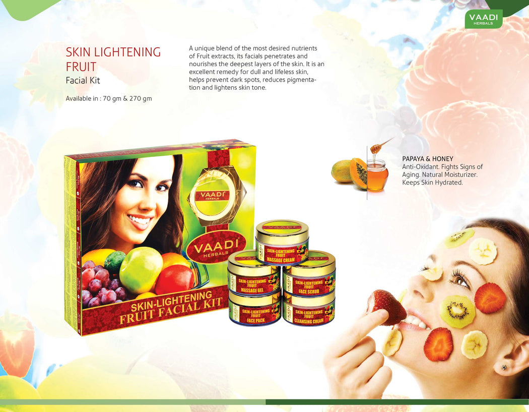 Skin-Lightening Fruit Facial Kit (70 gms)