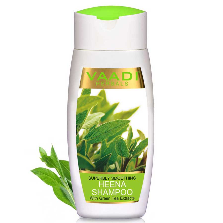 Superbly Smoothing Heena Shampoo With Green Tea Extracts (110 ml)