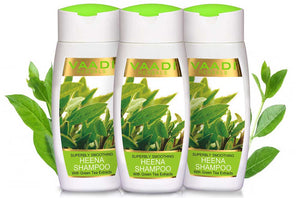 Pack of  3 Superbly Smoothing Heena Shampoo with Green Tea Extracts (110 ml x 3)