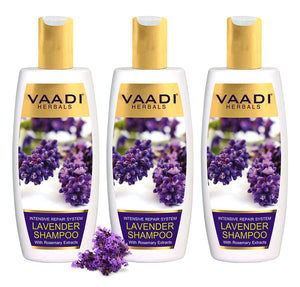 Pack of 3 Lavender Shampoo with Rosemary Extract-Intensive Repair System (350 ml x 3)