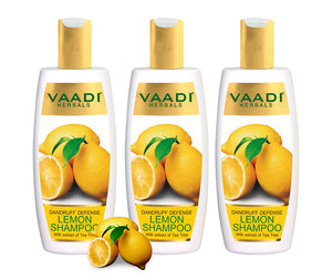 Pack of 3 Dandruff Defense Lemon Shampoo with Extracts of Tea Tree (350 ml x 3)