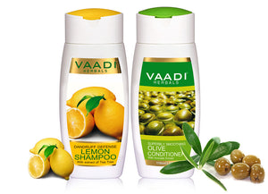Dandruff Defense Lemon Shampoo with Olive Conditioner (110 ml x 2)
