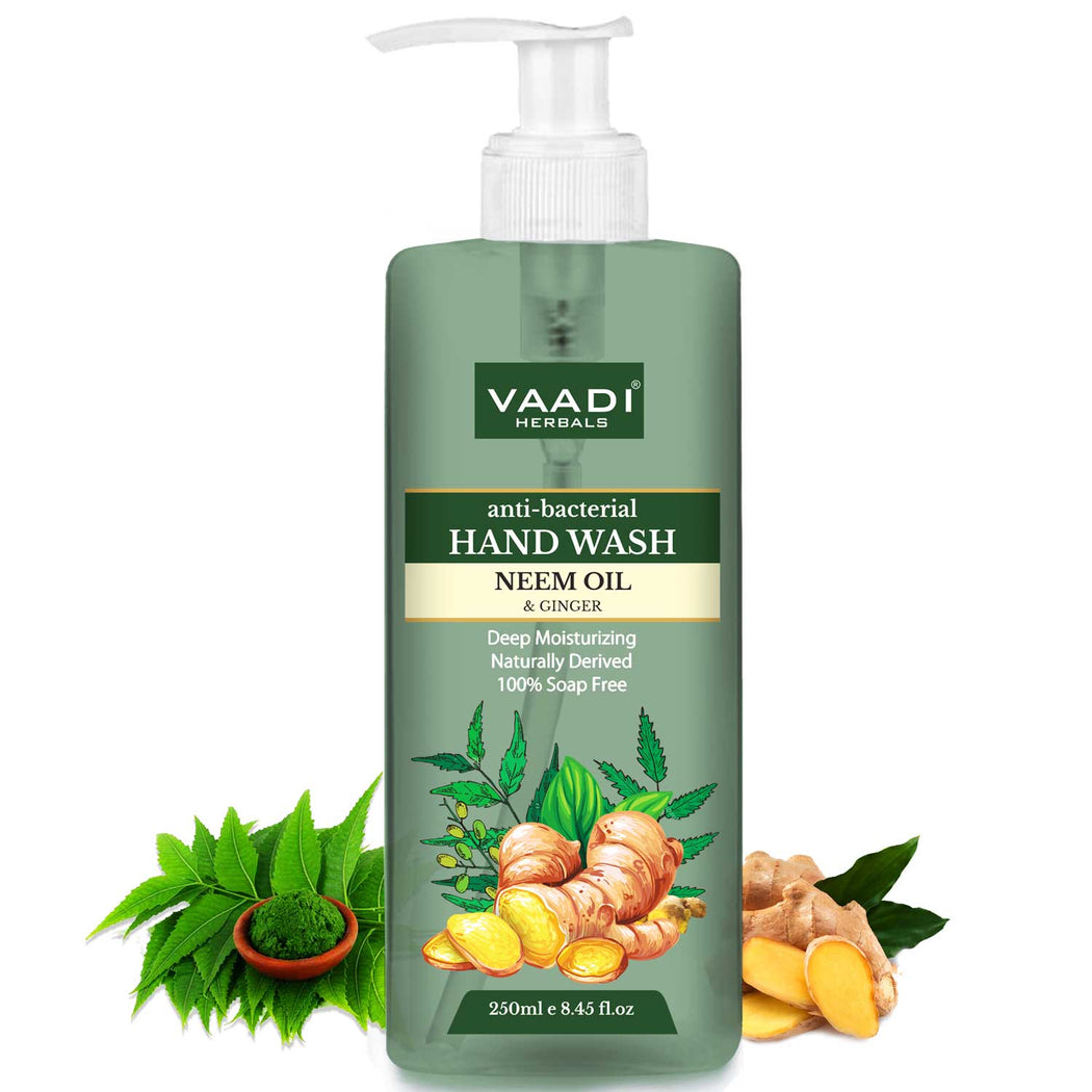 Anti-Bacterial Neem Oil & Ginger Hand Wash (250 ml)