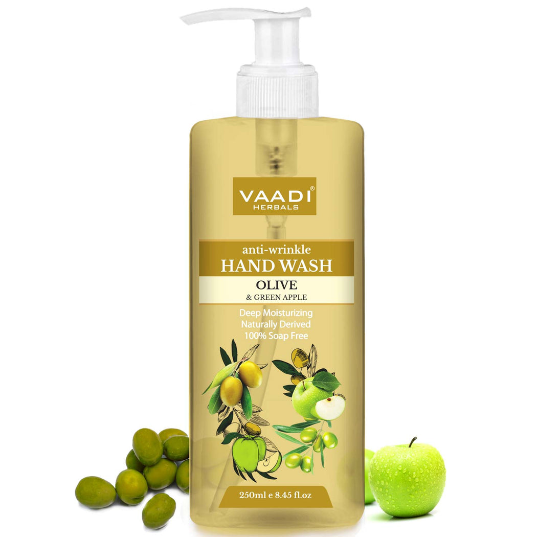 Anti-Wrinkle Olive and Green Apple Hand Wash (250 ml)