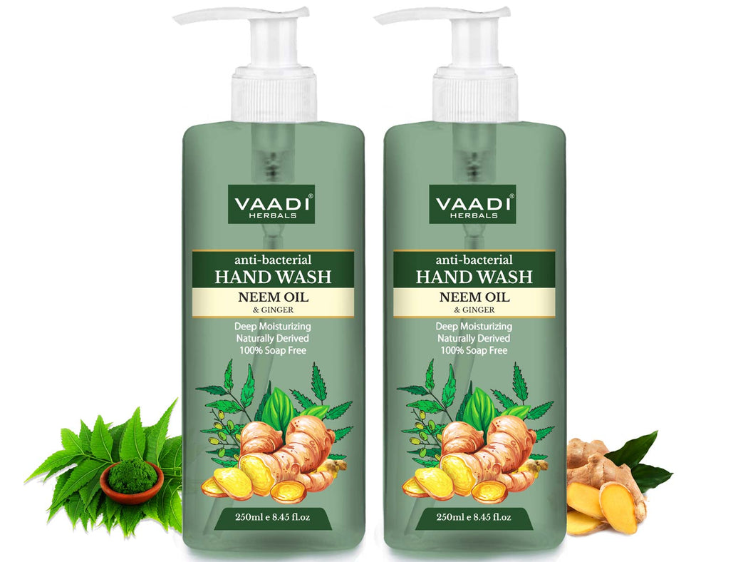 Pack of 2 Anti-Bacterial Neem Oil & Ginger Hand Wash (250 ml x 2)