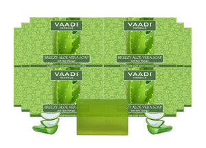 Pack of 12 Breezy Aloe Vera Soap (75 gms x 12)