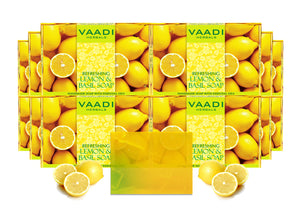 Pack of 12 Refreshing Lemon and Basil Soap (75 gms x 12)