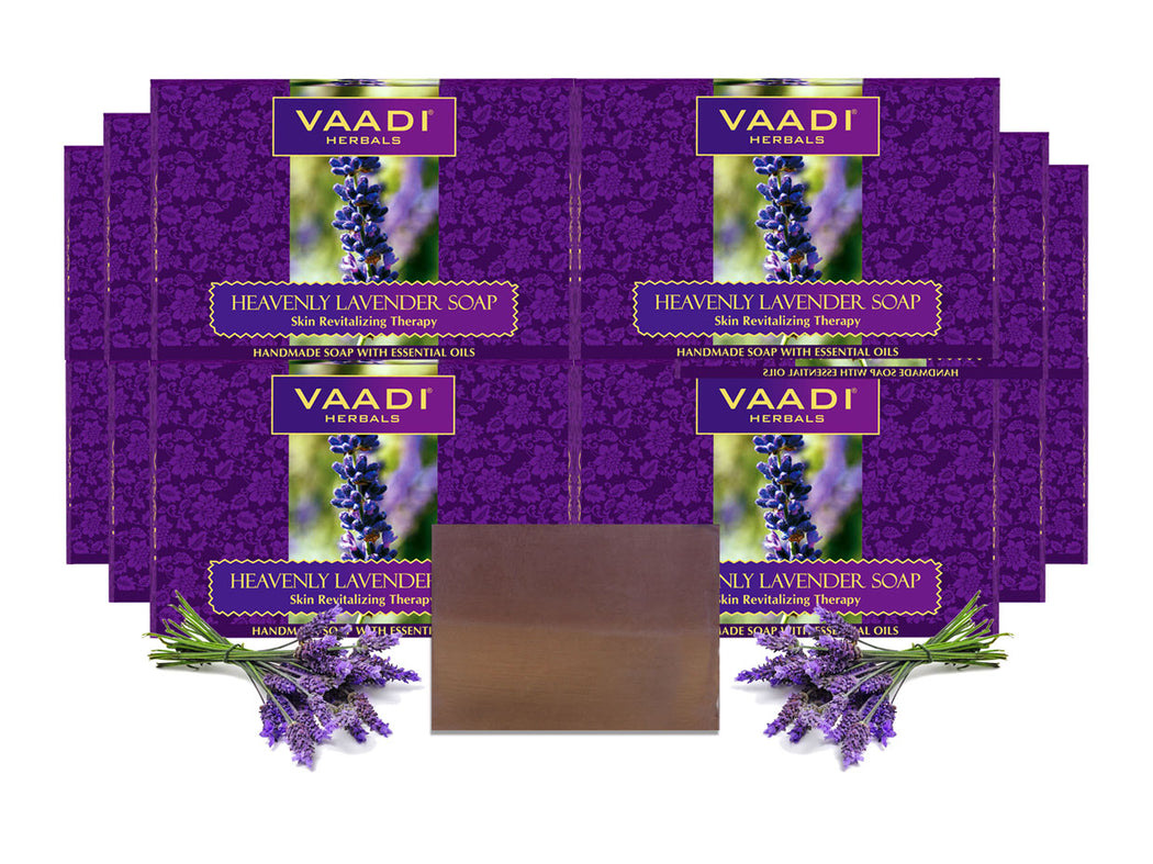 Pack of 12 Heavenly Lavender Soap With Rosemary Extract (75 gms x 12)