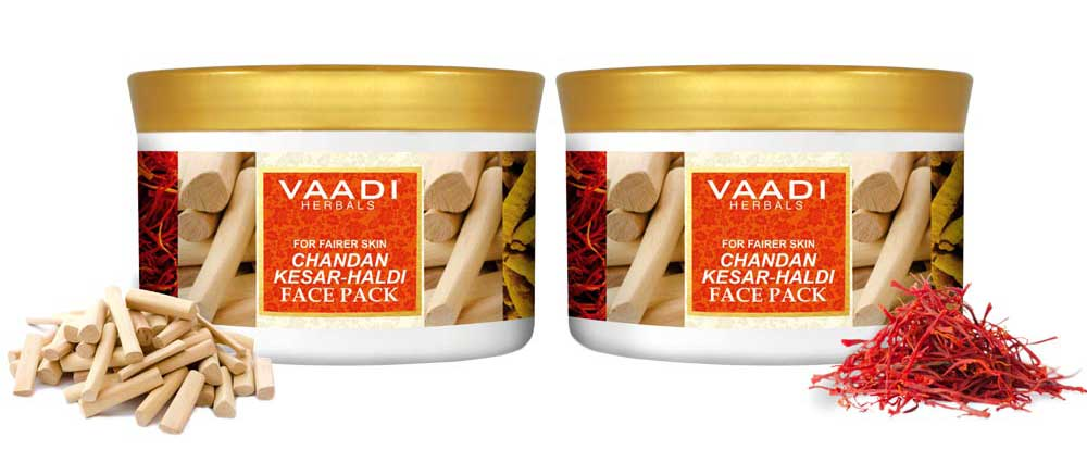 Pack of 2 Chandan Kesar Haldi Face Pack (600 gms x 2)