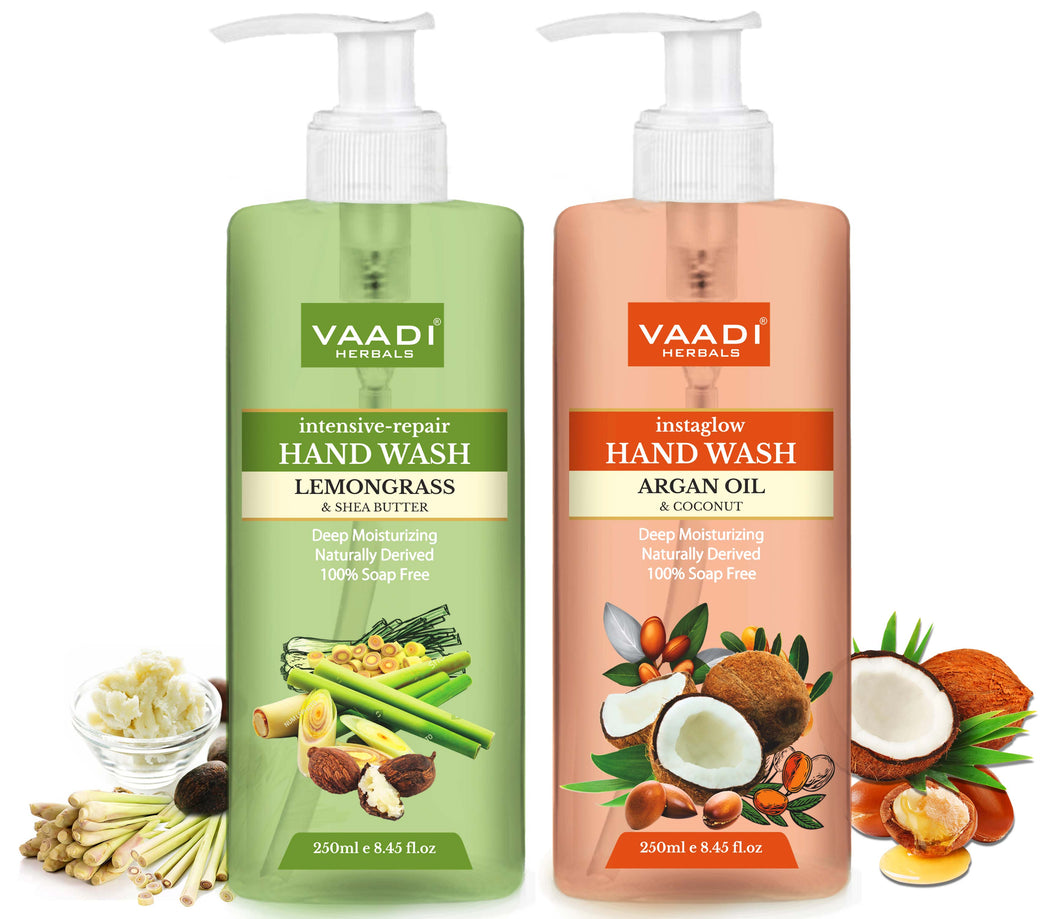 Deep Moisturising - Pack of 2 Luxurious Handwash - Lemongrass & Argan Oil (250 ml x 2)