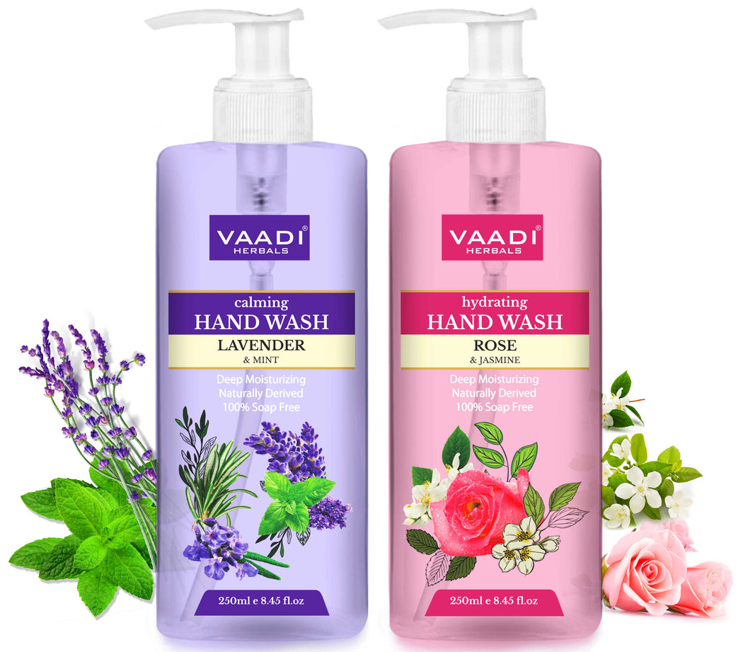 Very Aromatic - Pack of 2 Luxurious Handwash - Rose & Lavender (250 ml x 2)