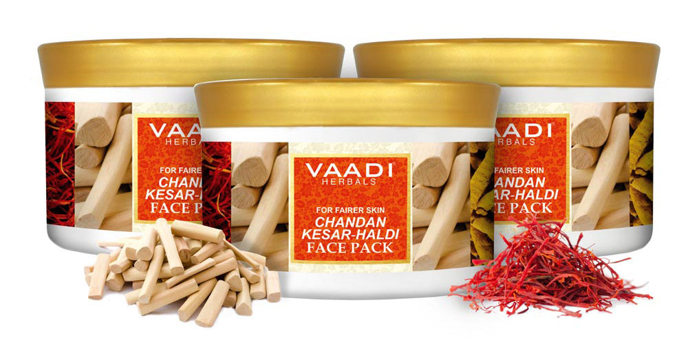 Pack of 3  Chandan Kesar Haldi Face Pack (600 gms x 3)