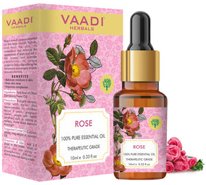 Rose Essential Oil - Improves Complexion, Evens Skin Tone - 100% Pure Therapeutic Grade (10 ml)