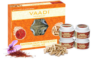 Saffron Skin-Whitening Facial Kit With Sandalwood Extract (70 gms)
