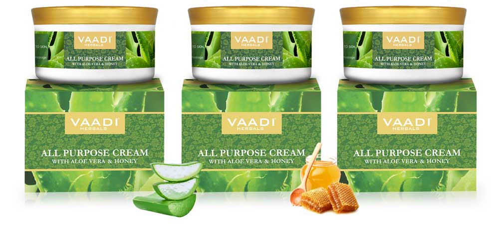 Pack of 3 All Purpose Cream with Aloe Vera, Honey & Manjistha (150 gms x 3)