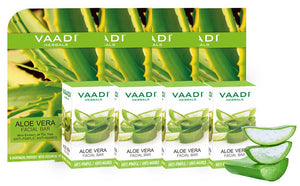 Pack of 4 Aloe Vera Facial Bars with Extract of Tea Tree (25 gms x 4)