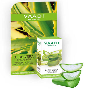 Aloe Vera Facial Bar with Extract of Tea Tree (25 gms)