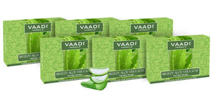 Pack of 6 Breezy Aloe Vera Soap (75 gms x 6)