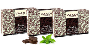 Pack of 3 Tempting Chocolate & Mint Soap - Deep Moisturising Therapy (75 gms x 3)