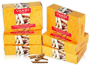 Pack of  6 Divine Sandal Soap with Saffron & Turmeric (75 gms X 6)