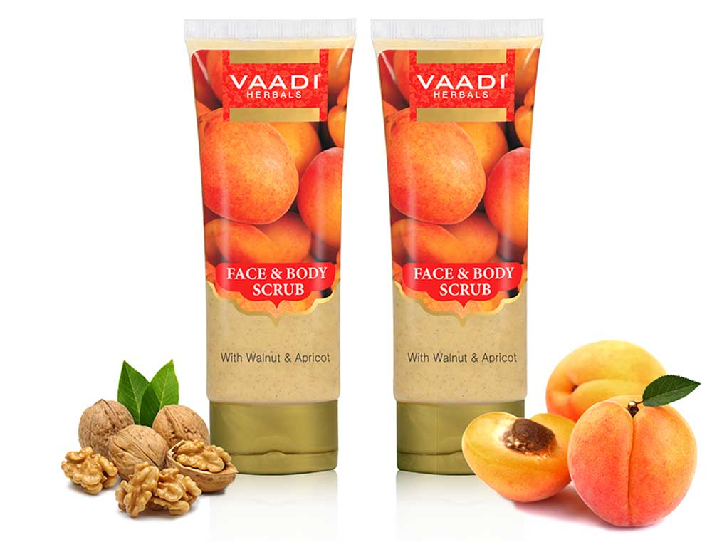 Pack of Face & Body Scrub with Walnut & Apricot (110 gms x 2)
