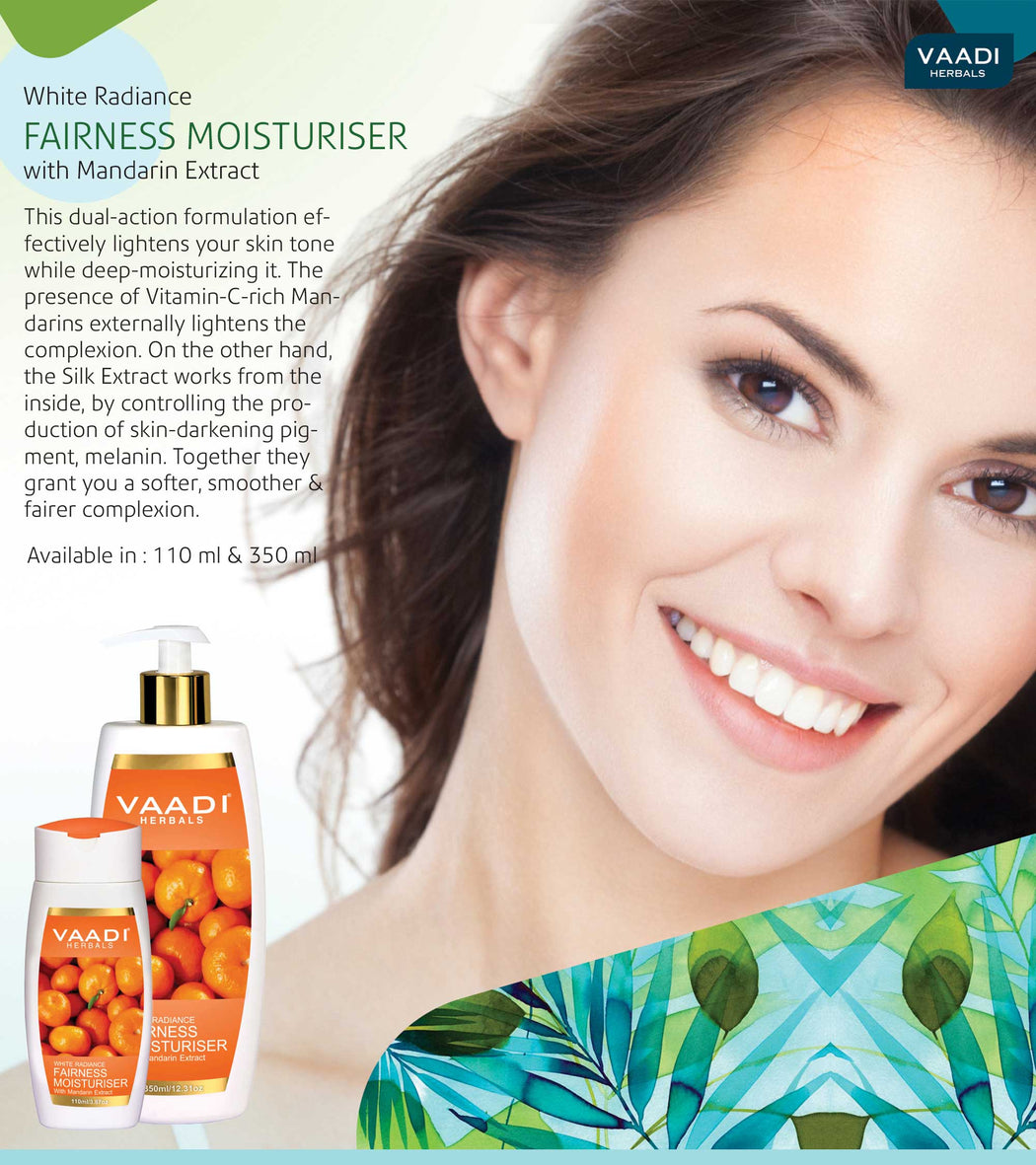 Pack of 3 Fairness Moisturiser with Mandarin Extract (110 ml x 3)