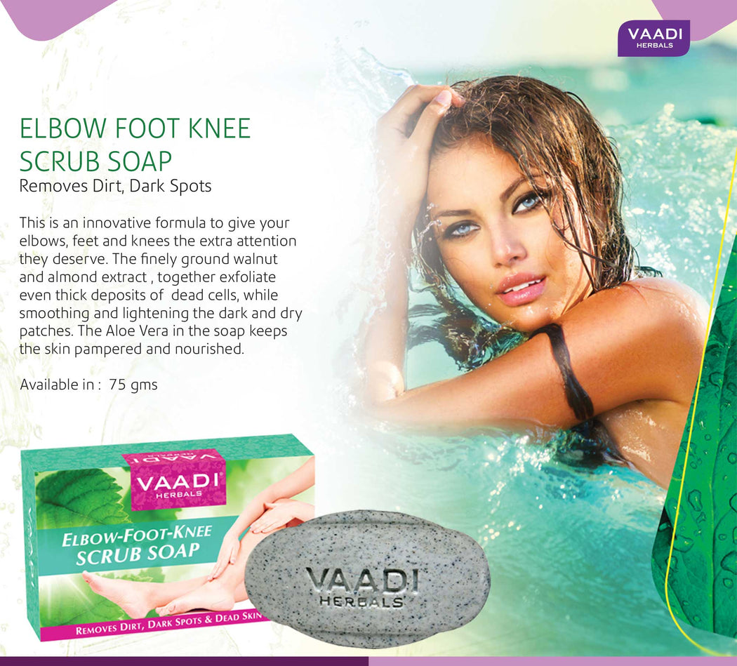 Elbow-Foot-Knee Scrub Soap with Almond & Walnut Scrub (75 gms)