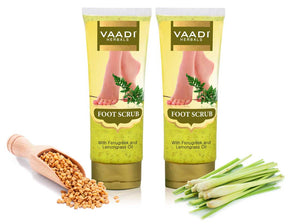 Pack of 2 Foot Scrub with Fenugreek & Lemongrass Oil (110 gms x 2)