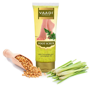 Foot Scrub with Fenugreek & Lemongrass Oil (110 gms)