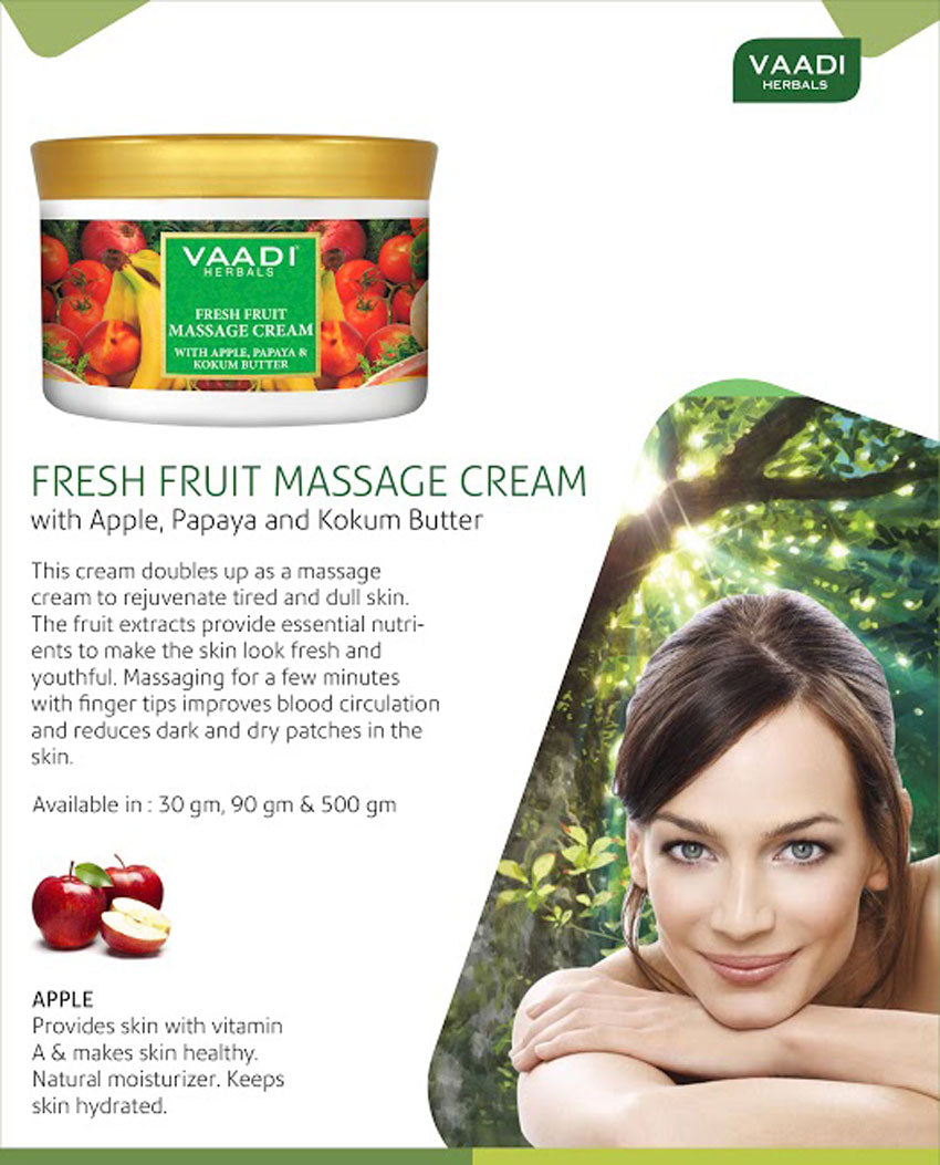 Fresh Fruit Massage Cream With Apple Papaya & Kukum Butter (500 gms)