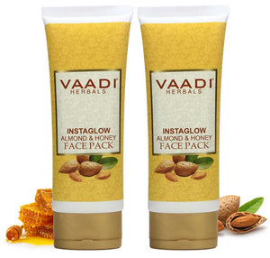 Pack of 2 Instaglow Almond & Honey Face Pack (120 gms x 2)