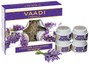 Lavender Anti-Ageing SPA Facial Kit with Rosemary Extract (70 gms)