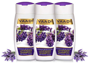 Pack of 3 Lavender Shampoo With Rosemary Extract-Intensive Repair System (110 ml x 3)