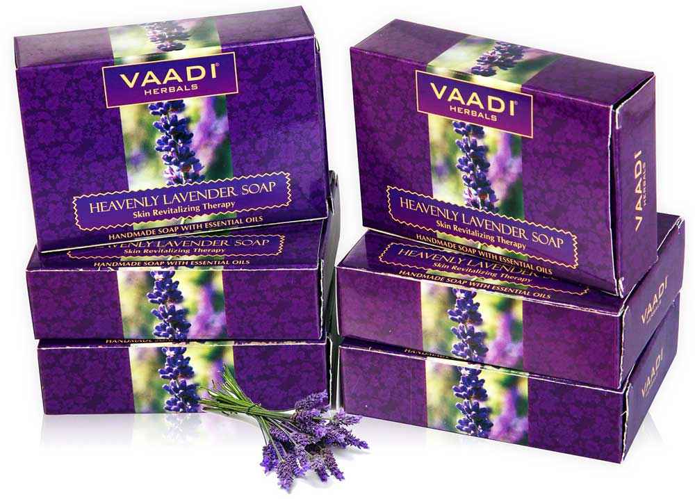 Pack of 6 Heavenly Lavender Soap with Rosemary Extract (75 gms X 6)